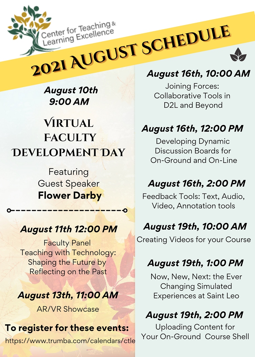CTLE August 2021 Events