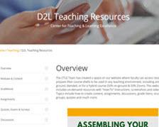 D2L Teaching resources-1