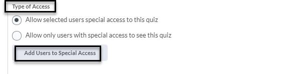 SA Quiz_Types of Access