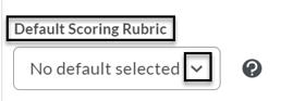 Default Scoring Rubric