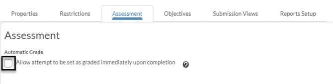 Graded Immediately