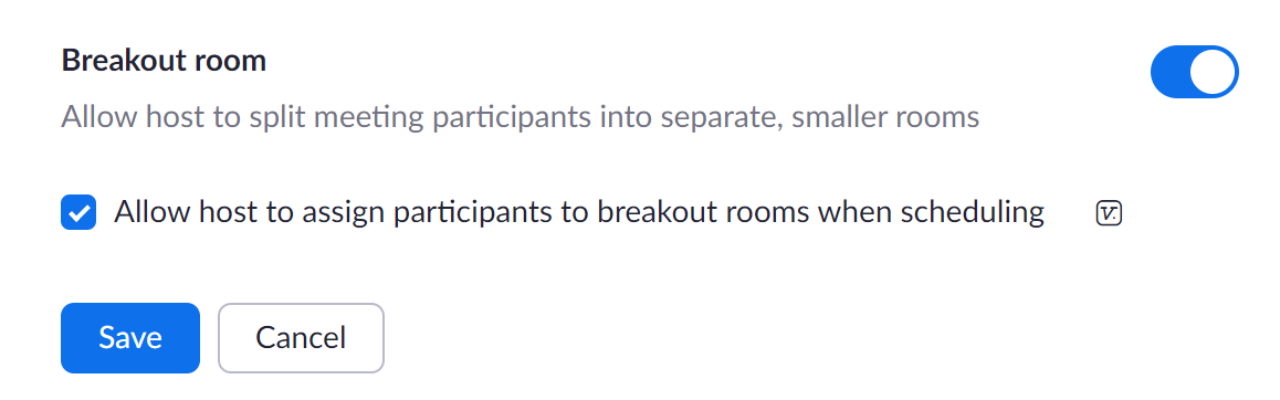 Breakout Room Setting